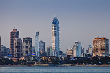 The Imperial Towers twin towers residential skyscrapers and business district development in Tardeo South Mumbai, India from Nariman Point