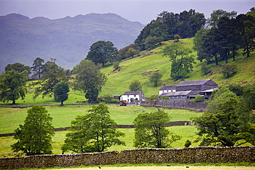 View of Helvellyn from Easedale near Grasmere in the Lake District National Park, Cumbria, UK
