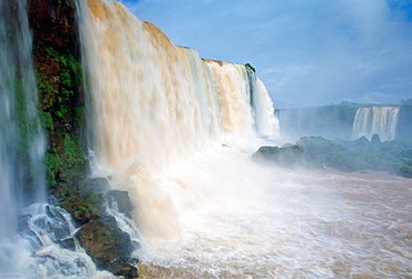Water thundering over the Iguaco Falls, Brazil
