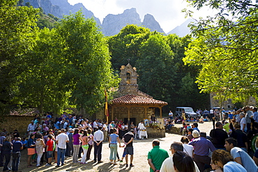 Festival of Our Lady of the Virgin of Corona, at Ermita de Corona, Valle de Valdeon, Picos de Europa, Spain