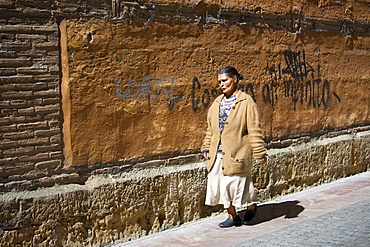 Spanish woman in Leon, Castilla y Leon, Spain
