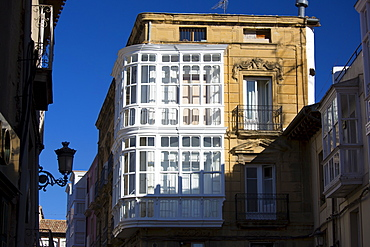 Traditional architecture in the town of Haro in La Rioja province of Northern Spain