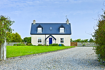 Newly built bungalow near Kilmore on south coast of Ireland. EU funds led to 'Celtic tiger' investment in the Republic