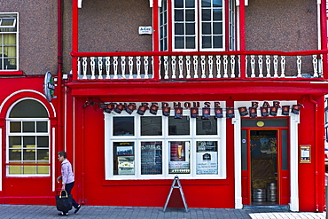 The Red House Bar public bar in Chapel Street, Lismore, County Waterford, Ireland