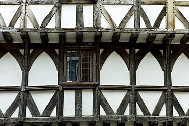 Tudor style timber-framed house in Ludlow, Shropshire, UK