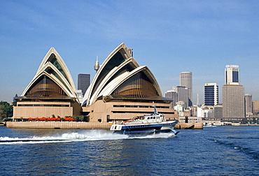 Sydney Opera House and city, Sydney, Australia
