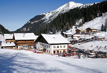 Ski resort town of Altenmarkt in the Austrian Alps, Austria