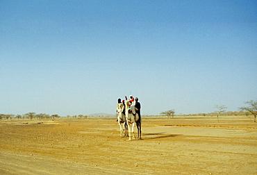 Touareg tribesmen in the Sahara Desert in Burkina Faso, formerly Upper Volta