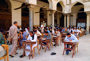 Student of the Koran studying at the Alcazhar Mosque in Cairo, Egypt