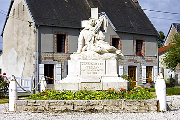 War Memorial to commemorate the local dead of  World War I in the French town of Trelly in Normandy, France