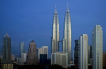 Petronas Towers in Kuala Lumpur, Malaysia