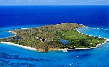 Sir Richard Branson's home on the island of Necker, in the British Virgin Isles