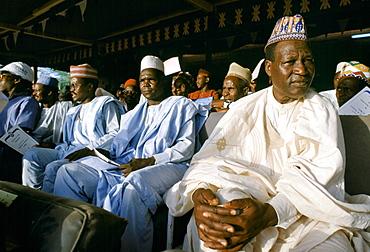 Nigerians at tribal gathering durbar cultural event at Maiduguri in Nigeria, West Africa