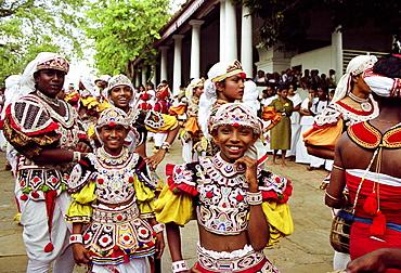 Traditional Sri Lankan dancers in Colombo, Sri Lanka