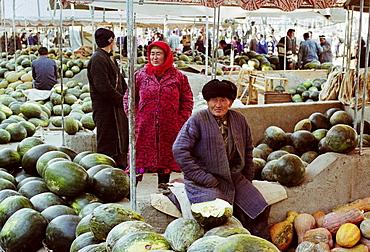 Food market in Samarkand, Uzbekistan