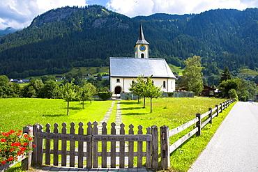 Kirchgemeinde church for the Evangelist Reformist community of Klosters, Serneus in Graubunden region, Switzerland, Europe