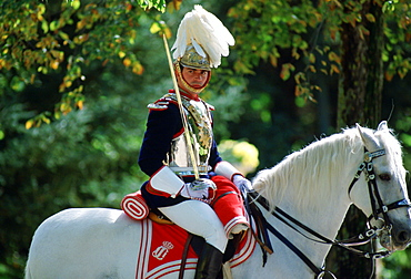 Horseguard at Pardo Palace in Madrid, Spain