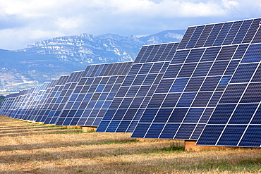 A field of solar panels in La Rioja, Northern Spain, Europe
