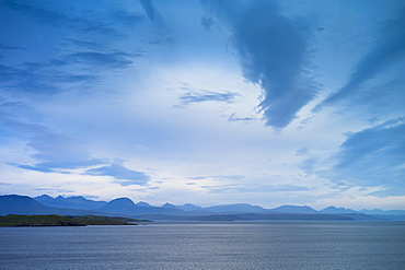 Breathtaking Scottish landscape with sea loch and mountains in the western Highlands of Scotland, United Kingdom, Europe