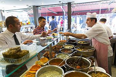 Chefs at Ciya Sofrasi Turkish restaurant serving Ottoman specialities in Kadikoy district, Asian side Istanbul, East Turkey, Asia Minor, Eurasia