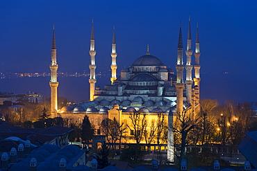 The Blue Mosque (Sultanahmet Camii) (Sultan Ahmet Mosque) (Sultan Ahmed Mosque), UNESCO World Heritage Site, Istanbul, Turkey, Europe