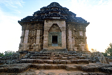 The Sun Temple in Konrak, Bengal, India, which is famous for its erotic carvings.