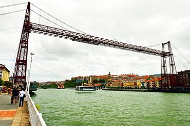 Vizcaya Hanging Bridge, Gustav Eifel, Bilbao River, Bilbao, Basque Region, Euskadi, Spain, Europe