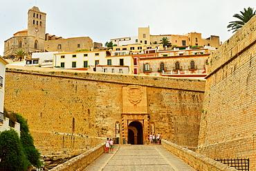 Ibiza, entrance to the old town, UNESCO World Heritage Site, Ibiza, Balearic Islands, Spain, Mediterranean, Europe