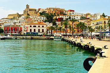 Ibiza old town, Ibiza Port, Ibiza, Balearic Islands, Spain, Mediterranean, Europe