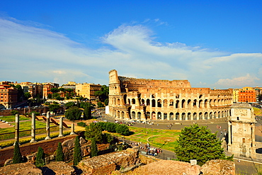 Roman Forum, Colosseum and Arch of Constantine, UNESCO World Heritage Site, Rome, Lazio, Italy, Europe