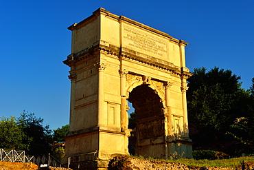 Arch of Titus, Roman Forum, UNESCO World Heritage Site, Rome, Lazio, Italy, Europe