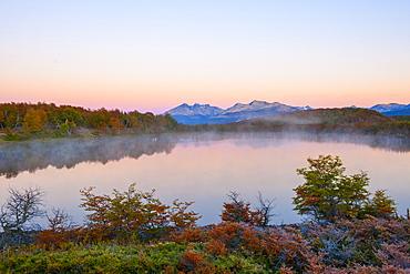 Lake in autumn, Patagonia, Argentina, South America