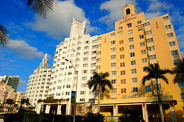 Delano Hotel, National Hotel and Ritz Hotel, South Beach, Miami, Florida, United States of America, North America