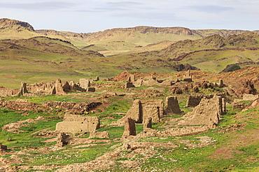 Ongiin Khiid monastery ruins, Saikhan Ovoo, The Gobi, Mongolia, Central Asia, Asia