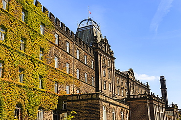 Smedley's Hydro, Victorian Grade II listed spa, now offices of Derbyshire County Council, Matlock, Derbyshire Dales, Derbyshire, England, United Kingdom, Europe