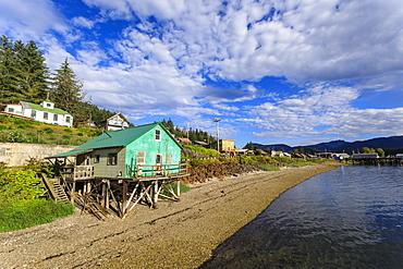 Hoonah, shoreline, Tlingit Community, Icy Strait Point, summer, Chichagof Island, Inside Passage, Southeast Alaska, United States of America, North America