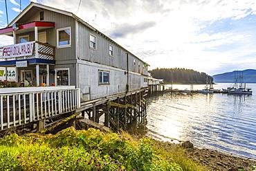 Hoonah, cafe selling fresh local halibut, Tlingit Community, Icy Strait Point, Chichagof Island, Inside Passage, Alaska, United States of America, North America