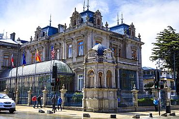 Hotel Jose Nogueira, former Palacio Sara Braun, Plaza Munoz Gamero, national monument, Punta Arenas, Chile, South America