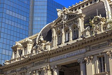 Correo Central (Central Post Office), historic building, Plaza de Armas, Santiago Centro, Santiago de Chile, Chile, South America
