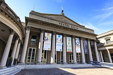 Teatro Solis, historic theatre built in 1856, Ciudad Vieja, Old Town, Montevideo, Uruguay, South America