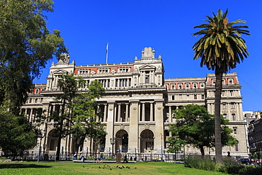 Palacio de Justicia, Beaux-arts structure, Supreme Court home, Plaza Lavalle, Congreso and Tribunales, Buenos Aires, Argentina, South America
