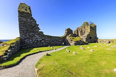 Jarlshof Prehistoric and Norse Settlement, 4000 years old, Sumburgh Head, Mainland, Shetland Islands, Scotland, United Kingdom, Europe
