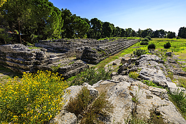Altar of Hieron II, Archaeological Park at Syracuse (Siracusa), UNESCO World Heritage Site, Sicily, Italy, Europe