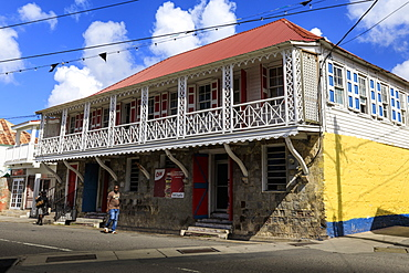 Historic architecture, municipal buildings, Charlestown, Nevis, St. Kitts and Nevis, West Indies, Caribbean, Central America