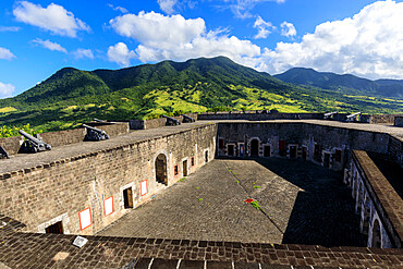 Citadel ramparts, Brimstone Hill Fortress National Park, UNESCO World Heritage Site, St. Kitts, St. Kitts and Nevis, Leeward Islands, West Indies, Caribbean, Central America