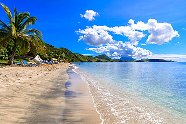 Beautiful beach, turquoise sea, South Friars Bay, Saint George Basseterre Parish, St. Kitts, St. Kitts and Nevis, Leeward Islands, West Indies, Caribbean, Central America