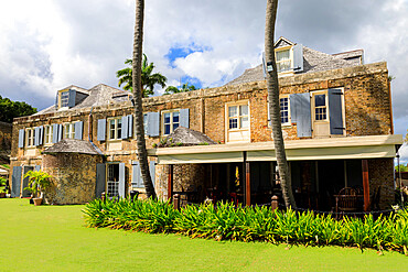 Nelson's Dockyard, Admiral's Inn hotel, historic restoration of Copper and Lumber Store, English Harbour, Antigua, Antigua and Barbuda, Leeward Islands, West Indies, Caribbean, Central America