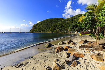 Deshaies waterfront, Death In Paradise location, Basse Terre, Guadeloupe, Leeward Islands, West Indies, Caribbean, Central America