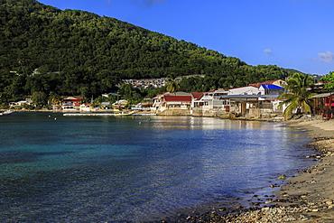 Deshaies waterfront, Death In Paradise location, Saint Marie, Basse Terre, Guadeloupe, Leeward Islands, West Indies, Caribbean, Central America