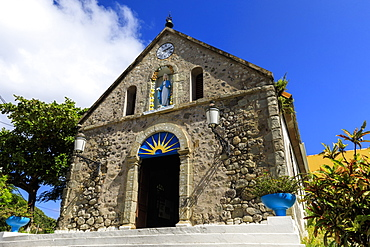 Notre Dame de l'Assomption church, Terre de Haut, Iles Des Saintes, Les Saintes, Guadeloupe, Leeward Islands, West Indies, Caribbean, Central America